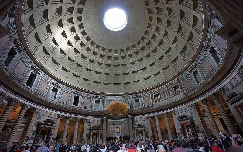 pantheon dome photo