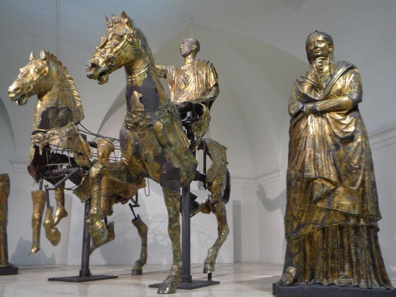roman gilded bronze statues