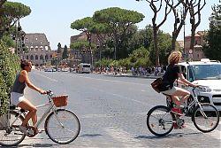 e-bikes in Rome