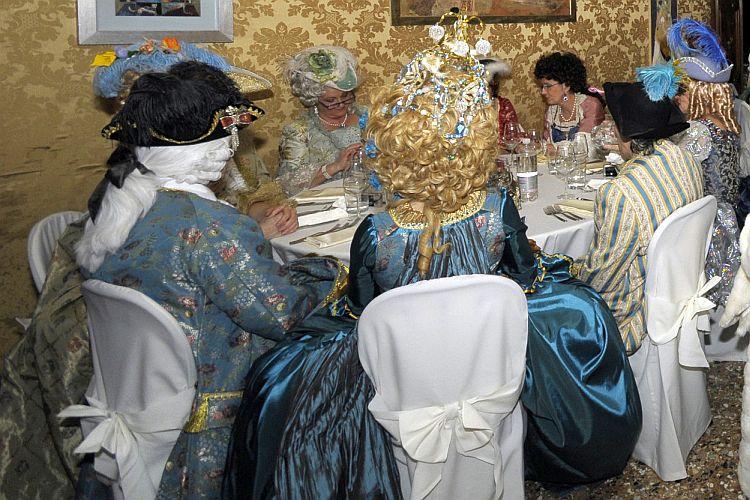 dining in period costume in venice