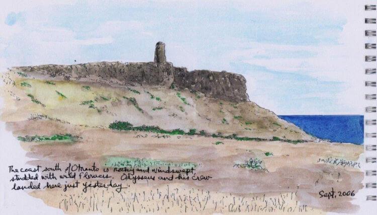 salento coast sketch