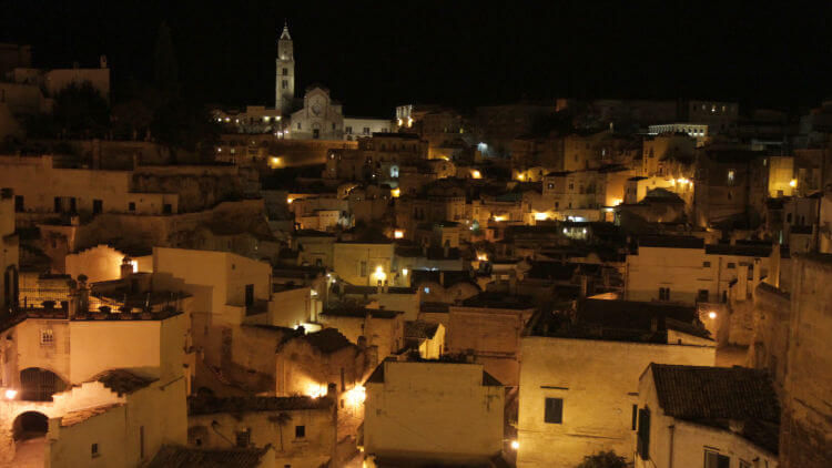 matera night photos
