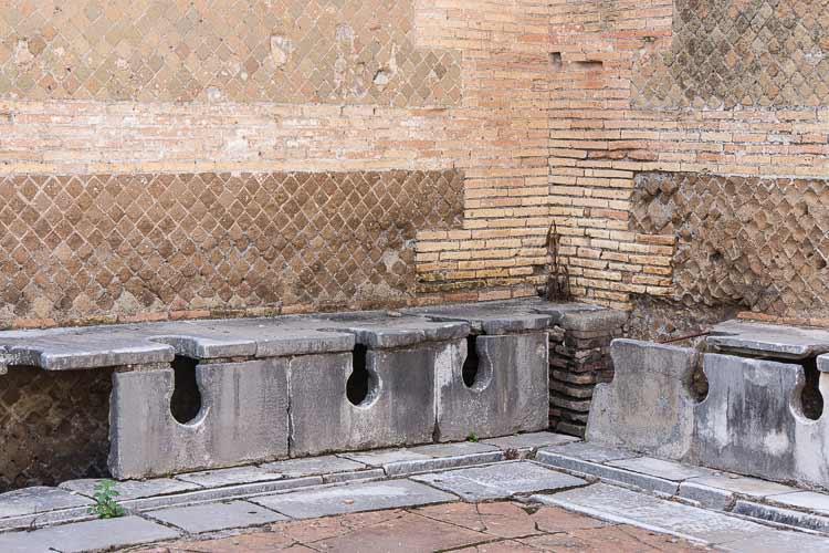 ostia antica toilets