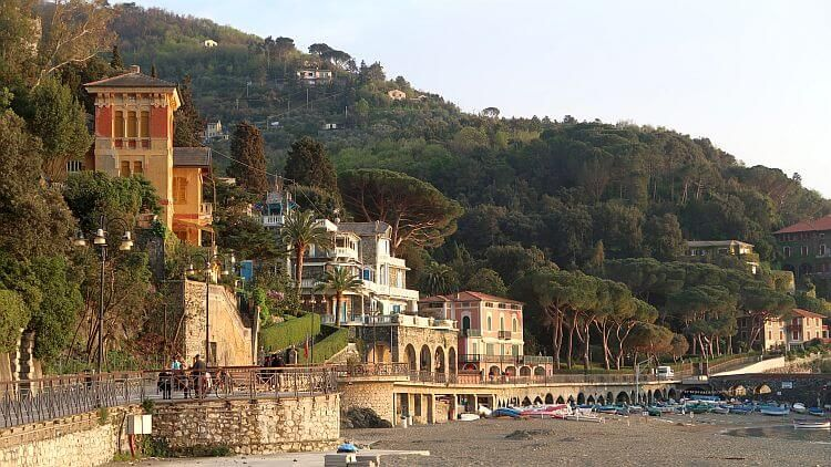 levanto beach and seaside promenade