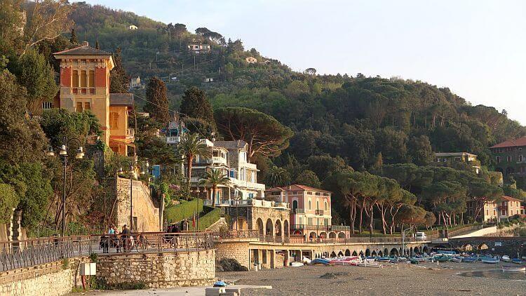 levanto beach and seaside promenade