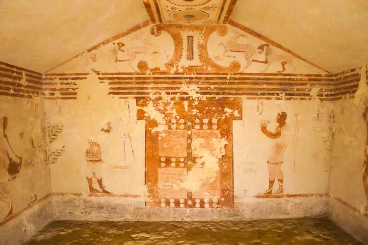 painted Etruscan tomb