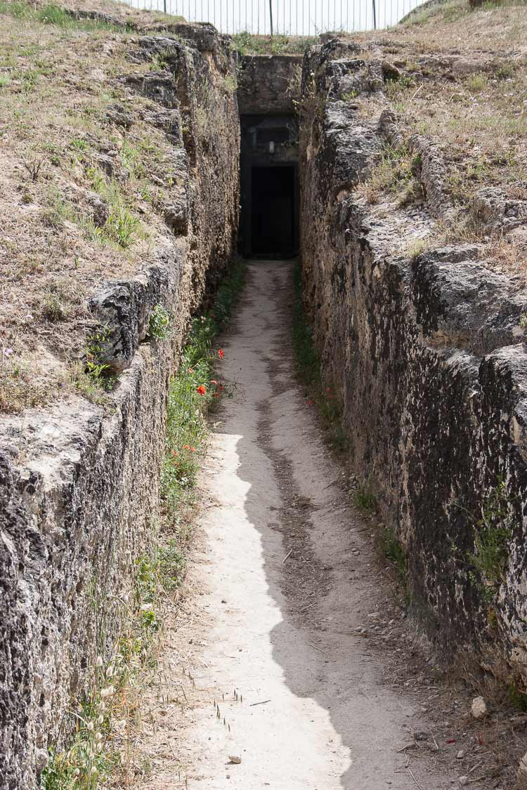 etruscan tomb entrance