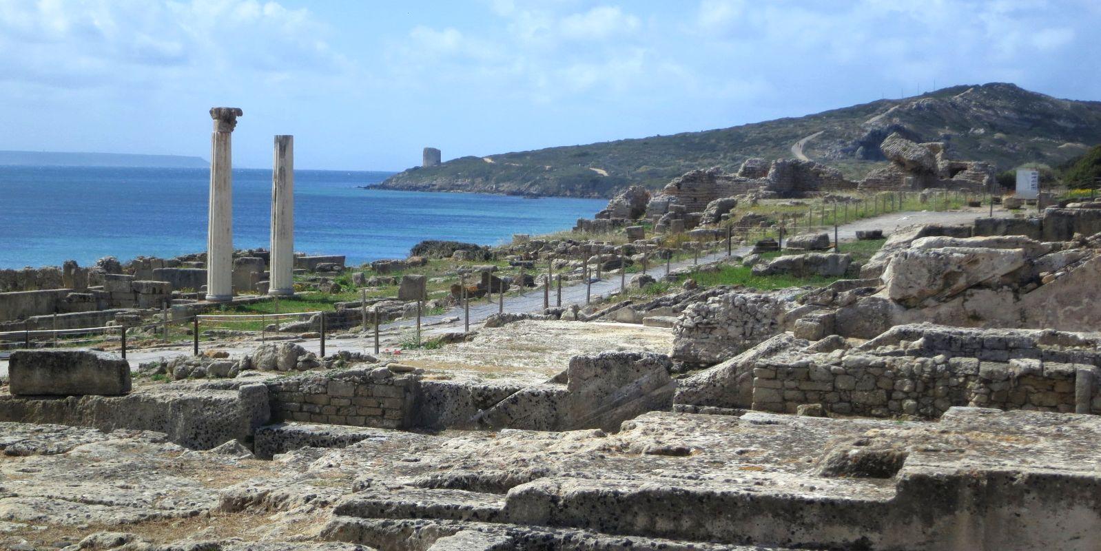 tharros roman site, sardinia